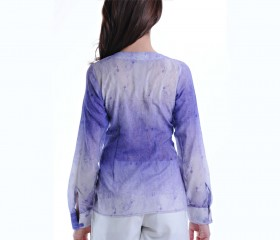 Pleated 'Gili' Lavender Blouse