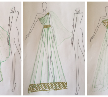 Custom Grecian and Indian style dress
